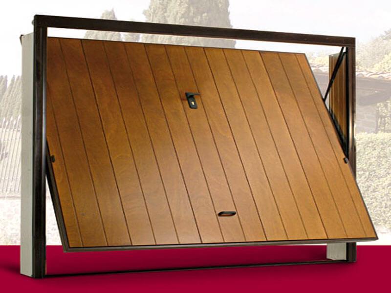 porte basculanti basculante-legno-manuale