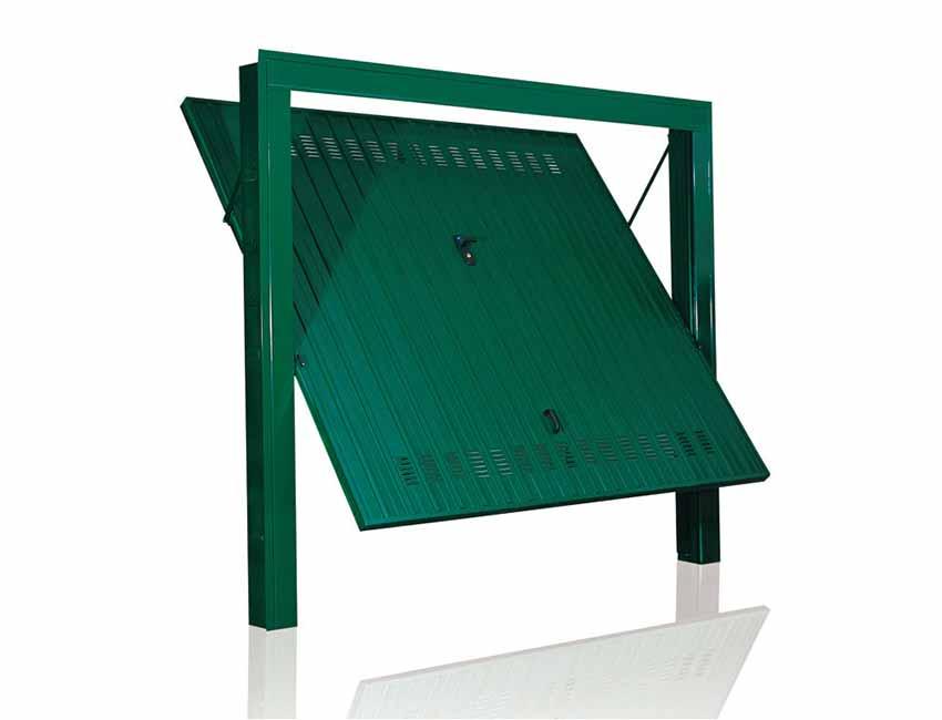 porte basculanti porte basculanti basculante-standard-ferro-zingato-verniciato-verde